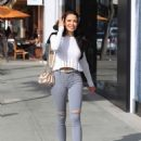 Mara Teigen in Ripped Jeans – Out in Beverly Hills - 454 x 601