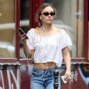 Lily-Rose Depp – Out in Paris