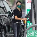 Jordana Brewster – Fill up gas in Brentwood - 454 x 682