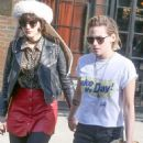 Kristen Stewart and girlfriend  were spotted out for a walk through the East Village in New York City, New York on April 13, 2016