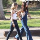 Selena Gomez – Spotted at the park with friends in Los Angeles