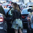 Emma Watson – arriving for a party at The Bungalow in West Hollywood