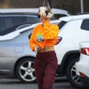 Hailey Bieber – Hits up the dance studio in West Hollywood