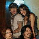 Tommy Lee and his girlfriend Erin Naas with Gilby and Daniella Clark - 422 x 500