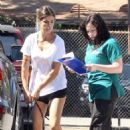 Elisabetta Canalis in Short Shorts out in Beverly Hills - 454 x 681