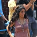 Salma Hayek – On the set of 'Bliss' in Los Angeles - 454 x 681