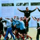 Vinnie Jones leading a team of prison inmates against a team of guards in a life-changing soccer match in Paramount Classics' Mean Machine - 2002