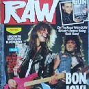 Alec John Such, Jon Bon Jovi - Raw Magazine Cover [United Kingdom] (9 August 1989)