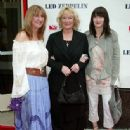 Patti Bonham, daughter Zoe Bonham and sister-in-law Deborah Bonham attending the New York Premiere of Led Zeppelin's new LIVE DVD, at the Loews 34th Street Theatre, on 27th May 2003. - 335 x 461
