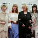Joan Bonham (Bonzo's mother), Deborah Bonham (Bonzo's sister), Patti Bonham (wife), and Zoe Bonham (daughter) attending the New York Premiere of Led Zeppelin's new LIVE DVD, at the Loews 34th Street Theatre, on 27th May 2003. - 454 x 342