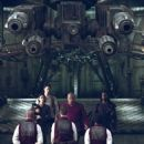 Carrie Anne-Moss, Keanu Reeves, Laurence Fishburne and Harold Perrineau in Warner Bros. Pictures and Village Roadshow Pictures provocative futuristic action thriller 'The Matrix Reloaded,' distributed by Warner Bros. Pictures