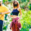 Emily Ratajkowski and Sebastian Bear-McClard – Seen with a friends in Central Park in NYC