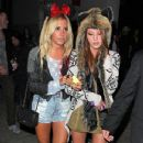 Ashley Tisdale and a female friend seen leaving Perez Hiltons birthday party in Hollywood