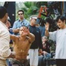 Ernie Reyes Jr. and Andy Cheng work on fight choreography