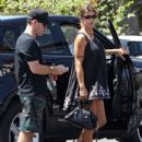 Elisabetta Canalis and her hubby are spotted out running errands in West Hollywood, California on August 29, 2015 - 434 x 600
