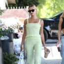 Hailey Bieber – looks stylish in West Hollywood