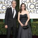 Scott Mackinlay Hahn and Winona Ryder at The 74th Golden Globes Awards - arrivals - 422 x 600