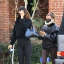 Hailey Bieber and Kendall Jenner – Out for a workout session in Los Angeles - 454 x 681