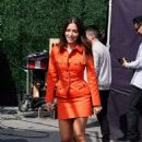 Sarah Shahi – Filming EXTRA TV live in Los Angeles