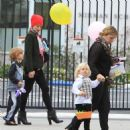 Gwen Stefani picking up her sons Kingston and Zuma from school in Beverly Hills, California on March 23, 2012