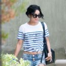 Vanessa Hudgens Leaving Her Home In Studio City