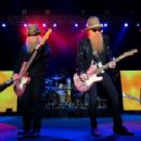 Dusty Hill and Billy Gibbons of ZZ Top perform onstage during day two of 2015 Stagecoach, California's Country Music Festival, at The Empire Polo Club on April 25, 2015 in Indio, California. - 454 x 304
