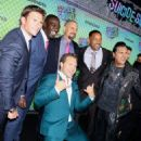 Scott Eastwood, Adewale Akinnuoye-Agbaje, Jai Courtney, The Director David Ayer, Will Smith and Adam Beach at 'Suicide Squad' Premiere in New York 08/01/2016