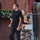 Caroline Wozniacki with fiance David Lee out in Portofino - 454 x 657