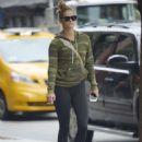 Nina Agdalin Leggings Out in New York City - 454 x 642