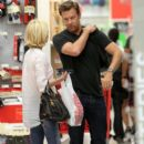 January Jones and Jason Sudeikis at Target
