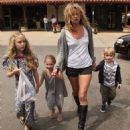Kate Moss Out And About With The Brood In Malibu In Shorts And Boots - Apr 2 2008