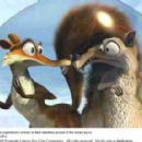 Scratte (voiced by Karen Disher) and Scrat (voiced by Chris Wedge) experience a setback in their relentless pursuit of the cursed acorn. Photo credit: Blue Sky Studios. ICE AGE 3 TM and © 2009 Twentieth Century Fox Film Corporation. All rights reserved. - 454 x 286