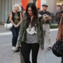 Megan Fox goes shopping with her sister at the Grove in Los Angeles