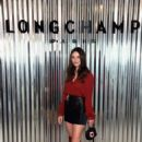 Crystal Reed – Longchamp Fashion Show in NYC - 454 x 669