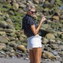 Charlotte McKinney – Seen on the beach in Malibu - 454 x 681