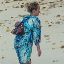 Hayden Panettiere in Summer Dress at the beach in Barbados