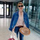 Kylie Minogue in Jeans at terminal 5 departing for New York
