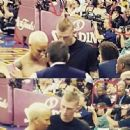 Amber Rose and Machine Gun Kelly Spotted at The Clevand Cavaliers vs Golden State Game at the Quicken Loans Arena in downtown Cleveland, Ohio - June 11, 2015 - 454 x 447