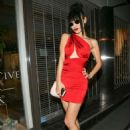Bai Ling in Red Mini Dress at Craig's Restaurant in West Hollywood - 454 x 605