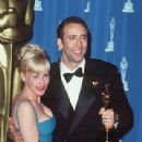 Nicolas Cage and Patricia Arquette At The 68th Annual Academy Awards - Press Room (1996) - 309 x 463