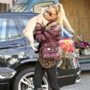 Sarah Harding: loads her car for a weekend away with her dog to Manchester