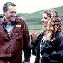 Willa O'Neill and writer/director Harry Sinclair on the set of Lot 47's The Price of Milk - 2001