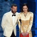 Jamie Dornan and Dakota Johnson At The 89th Annual Academy Awards - Show (2017) - 454 x 548