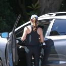 Jennifer Garner in Black Spandex – Out in Pacific Palisades