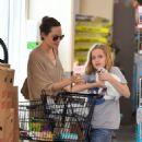 Angelina Jolie and daughter walk around Los Angeles with pet rabbit