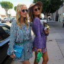 Paris and Nicki Hilton on Robertson Blvd in West Hollywood