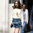 Lily Collins at BBC Radio 2 in London