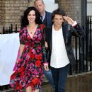 Ronnie Wood and Sally Humphreys attend the first annual gala dinner in recognition of Addiction Awareness Week at Phillips Gallery on June 12, 2019 in London, England - 427 x 600