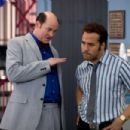 """Brent Gage (David Koechner, left) and Don Ready (Jeremy Piven, right) are two of the best used-car salesmen in the business, in the comedy """"The Goods: Live Hard. Sell Hard."""" Photo Credit: Sam Emerson. Copyright © 2009 by PARAMOUNT VANTAGE, a d"""
