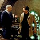 "Producers DAVID BARRON and DAVID HEYMAN on the set of Warner Bros. Pictures' fantasy 'Harry Potter and the Order of the Phoenix."" Photo by Murray Close. TM & © 2007 Warner Bros. Entertainment Inc. All rights reserved. - 454 x 167"